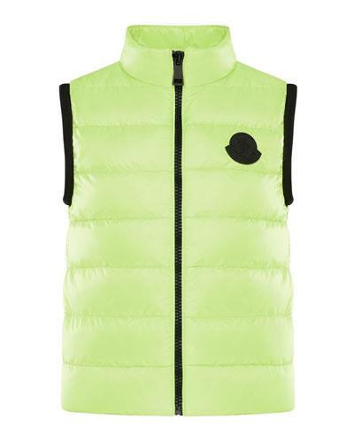 Girl's Artema Quilted Logo Vest, Size 8-14