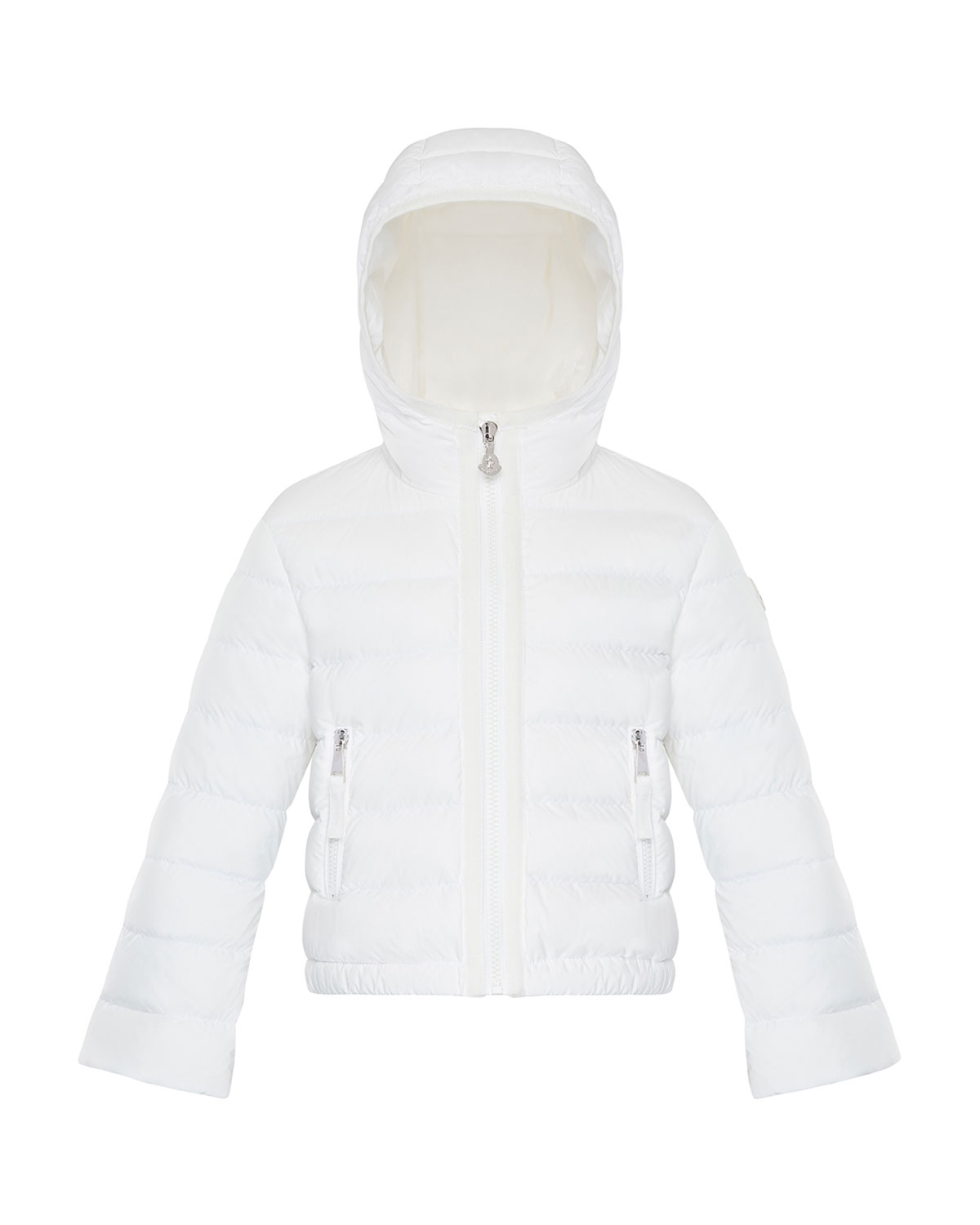 Moncler GIRL'S COSTAS QUILTED HOODED JACKET