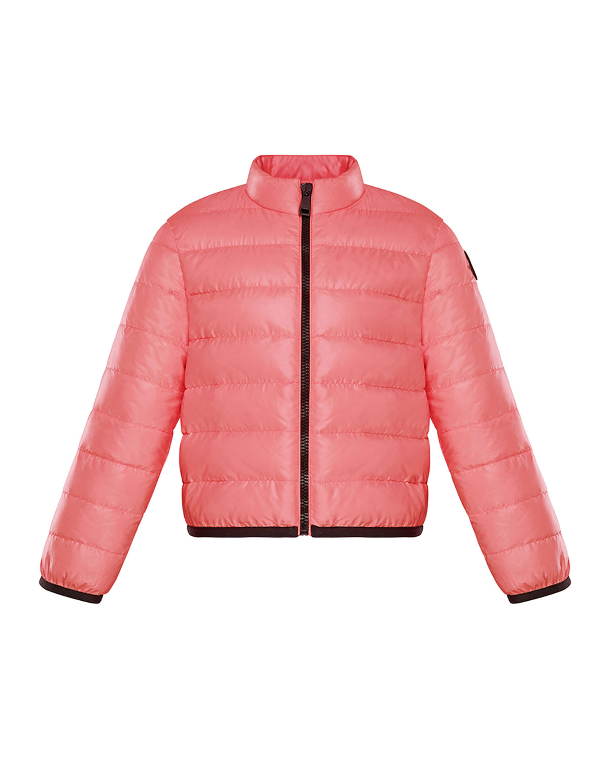Moncler GIRL'S PHOTINE QUILTED LOGO DOWN JACKET