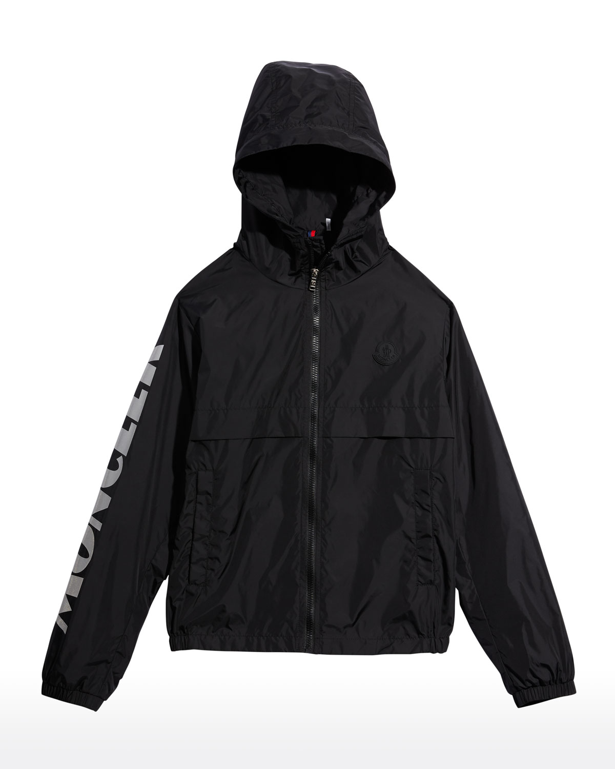 Moncler BOY'S SAXOPHONE LOGO-PRINT HOODED JACKET