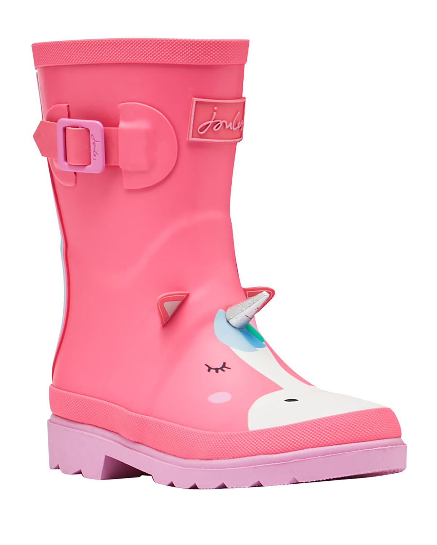 Unicorn-Print Rain Boots