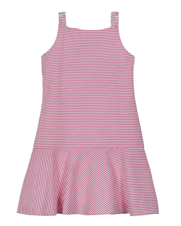 Florence Eiseman GIRL'S STRIPED BOW SLEEVELESS DRESS
