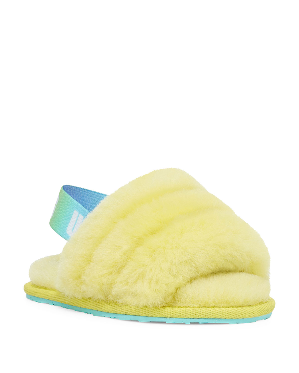 Fluff Yeah Quilted Shearling Slingback Slippers