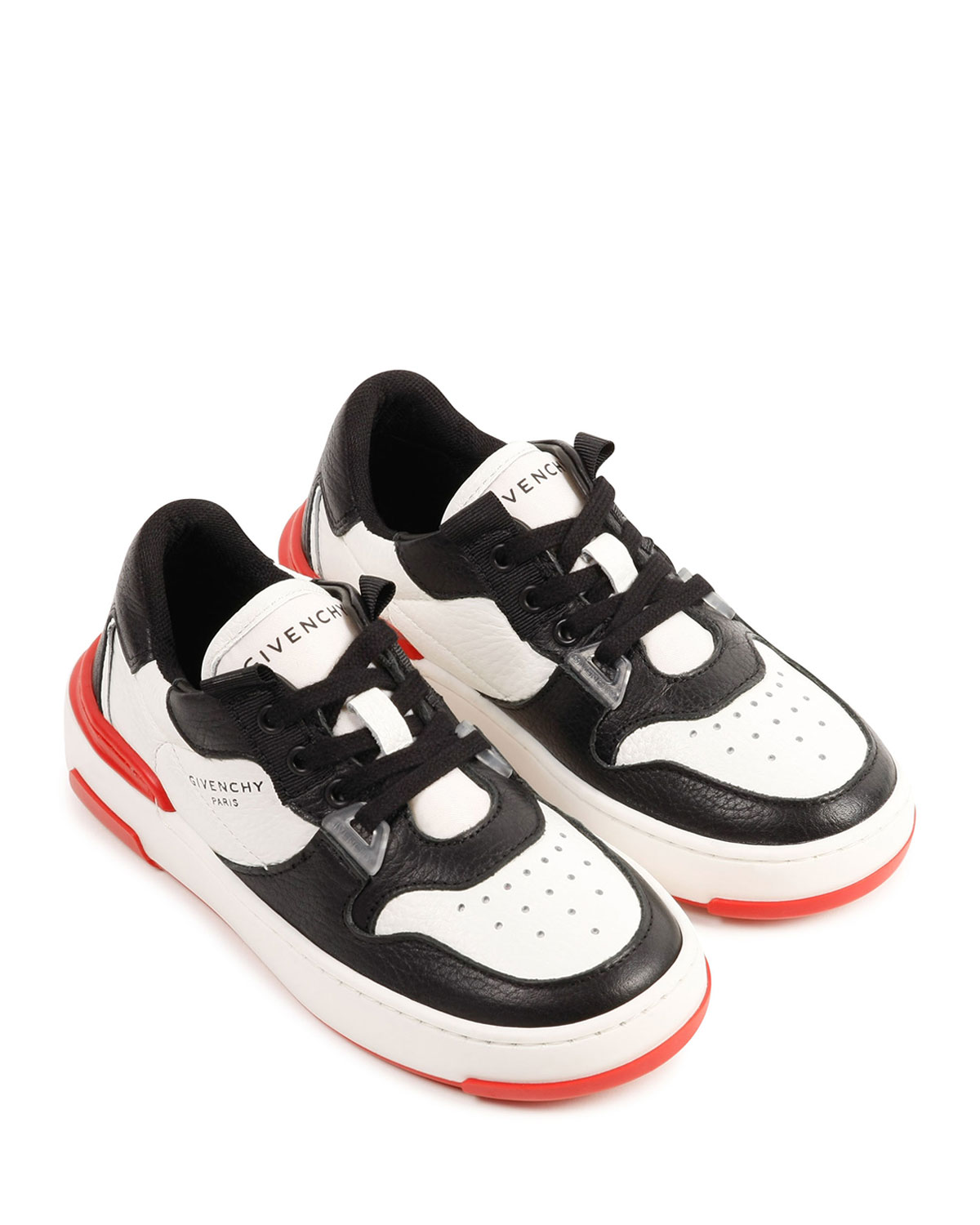 Boy's Tricolor Leather Low-Top Sneakers, Toddlers
