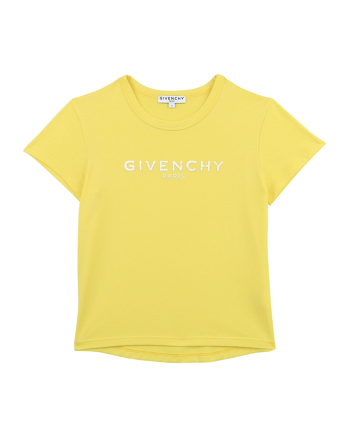 Givenchy GIRL'S LOGO-PRINT SHORT-SLEEVE COTTON SHIRT