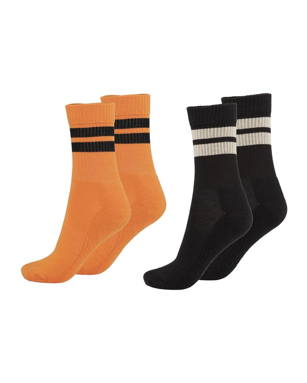 Kid's Norman Striped 2-Pack Sock Set
