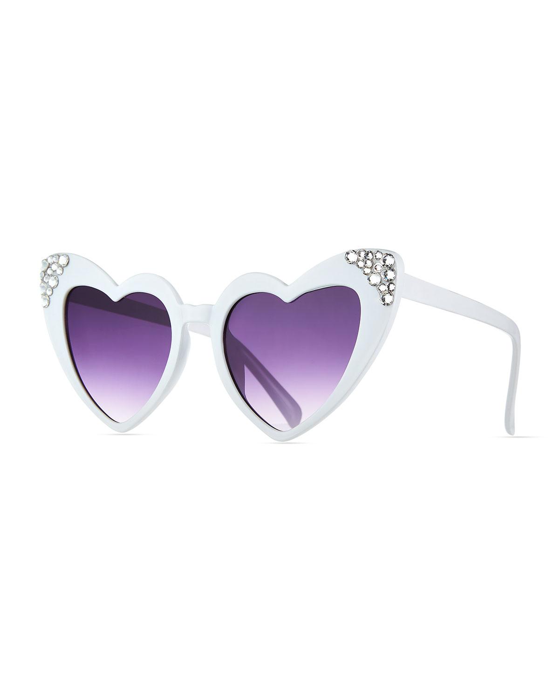 Girl's Swarovski Crystal Heart Sunglasses