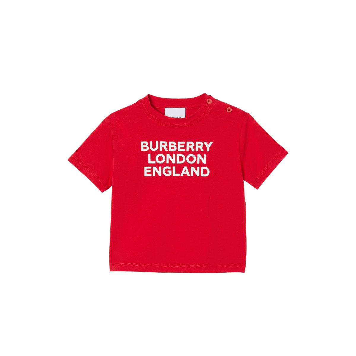 Burberry GIRL'S BLE LOGO SHORT-SLEEVE SHIRT