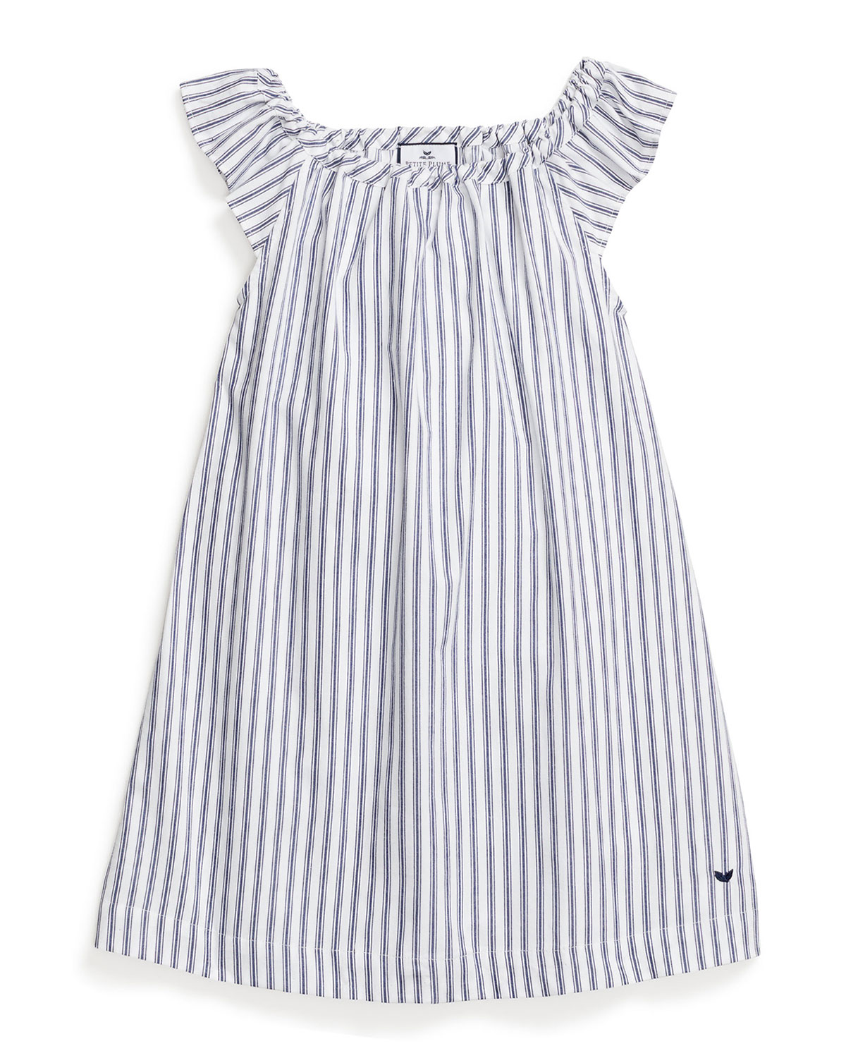 Petite Plume KID'S ISABELLE FRENCH TICKING STRIPED NIGHTGOWN