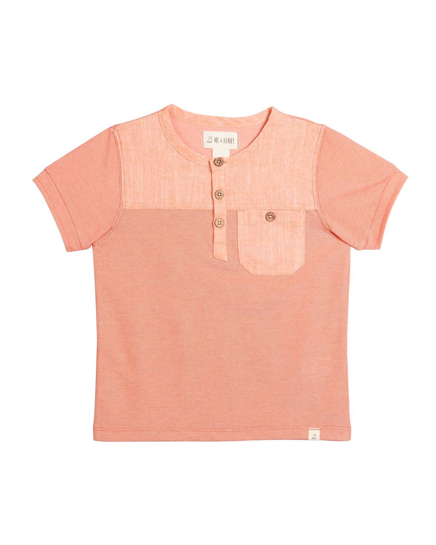 Boy's Boardwalk Henley Cotton Short-Sleeve Shirt