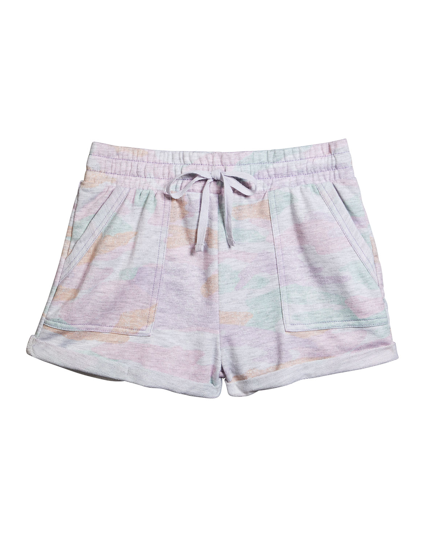Splendid Shorts GIRL'S CAMO-PRINT DRAWSTRING CUFFED SHORTS