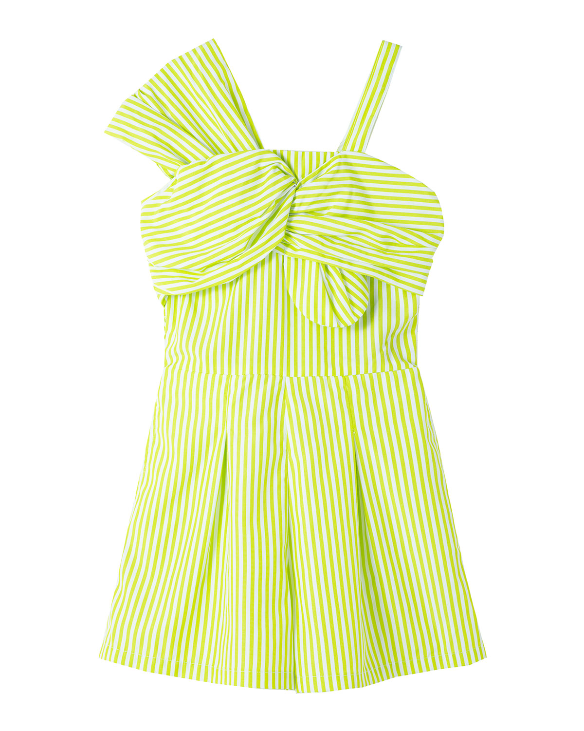 Habitual GIRL'S ONE-SHOULDER STRIPED TWISTED-FRONT ROMPER