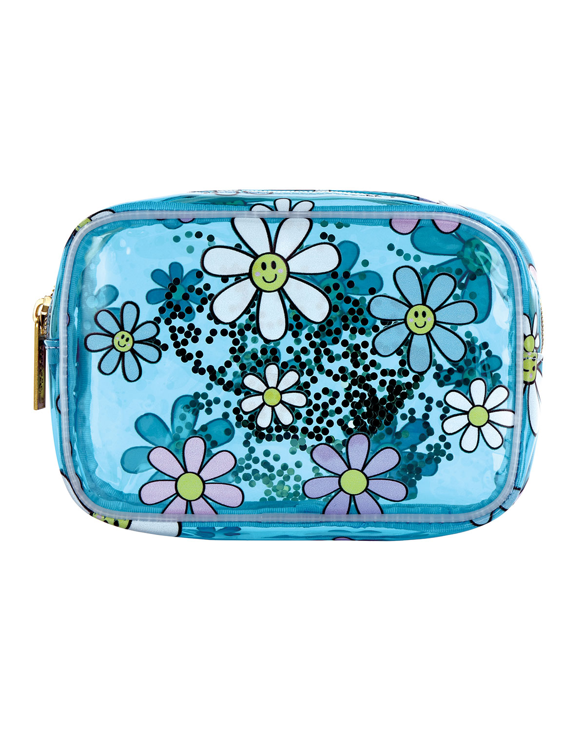 Girl's Daisies Clear Cosmetic Bag