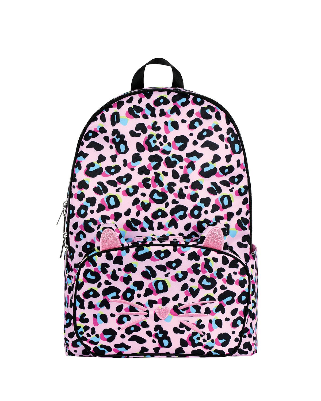 Girl's Leopard-Print Backpack