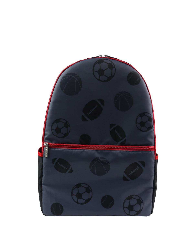 Boy's Sport-Print Backpack w/ Contrast Trim