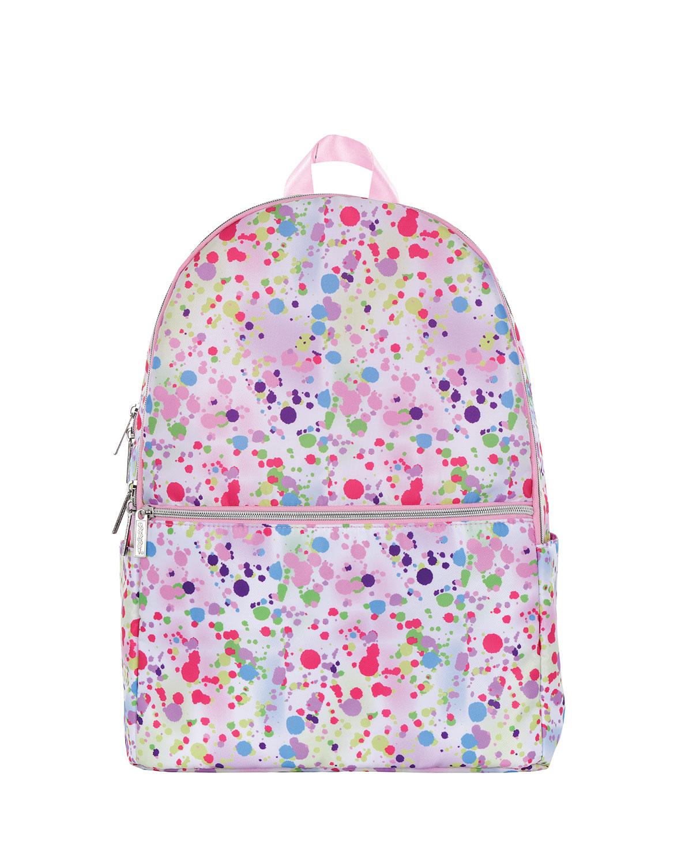Girl's Confetti-Print Backpack