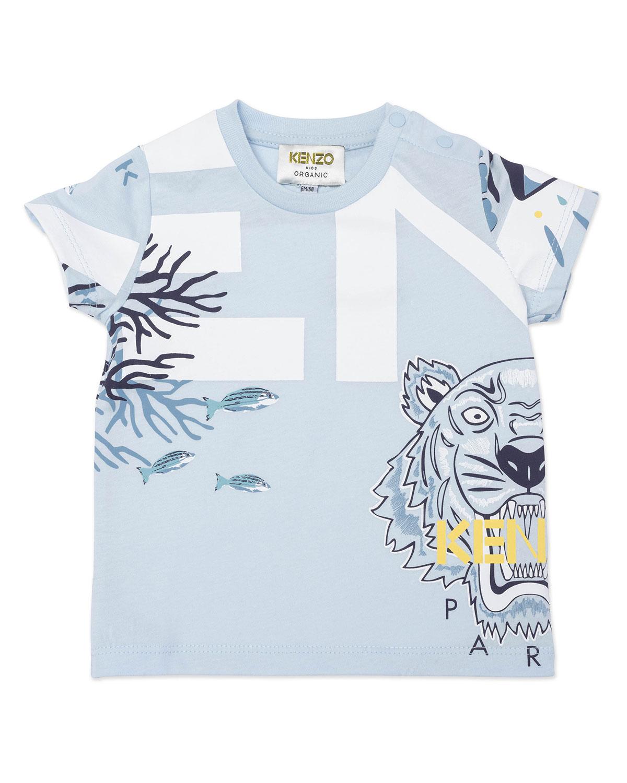 Boy's Classic Icon Tiger Fish-Print Shirt