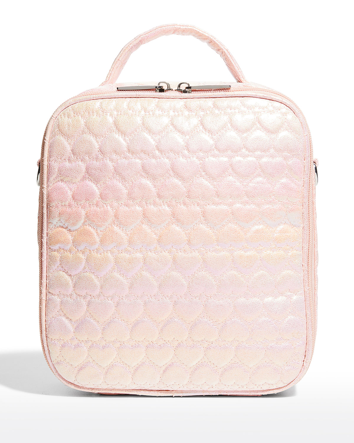 Girl's Heart Quilted Lunchbox