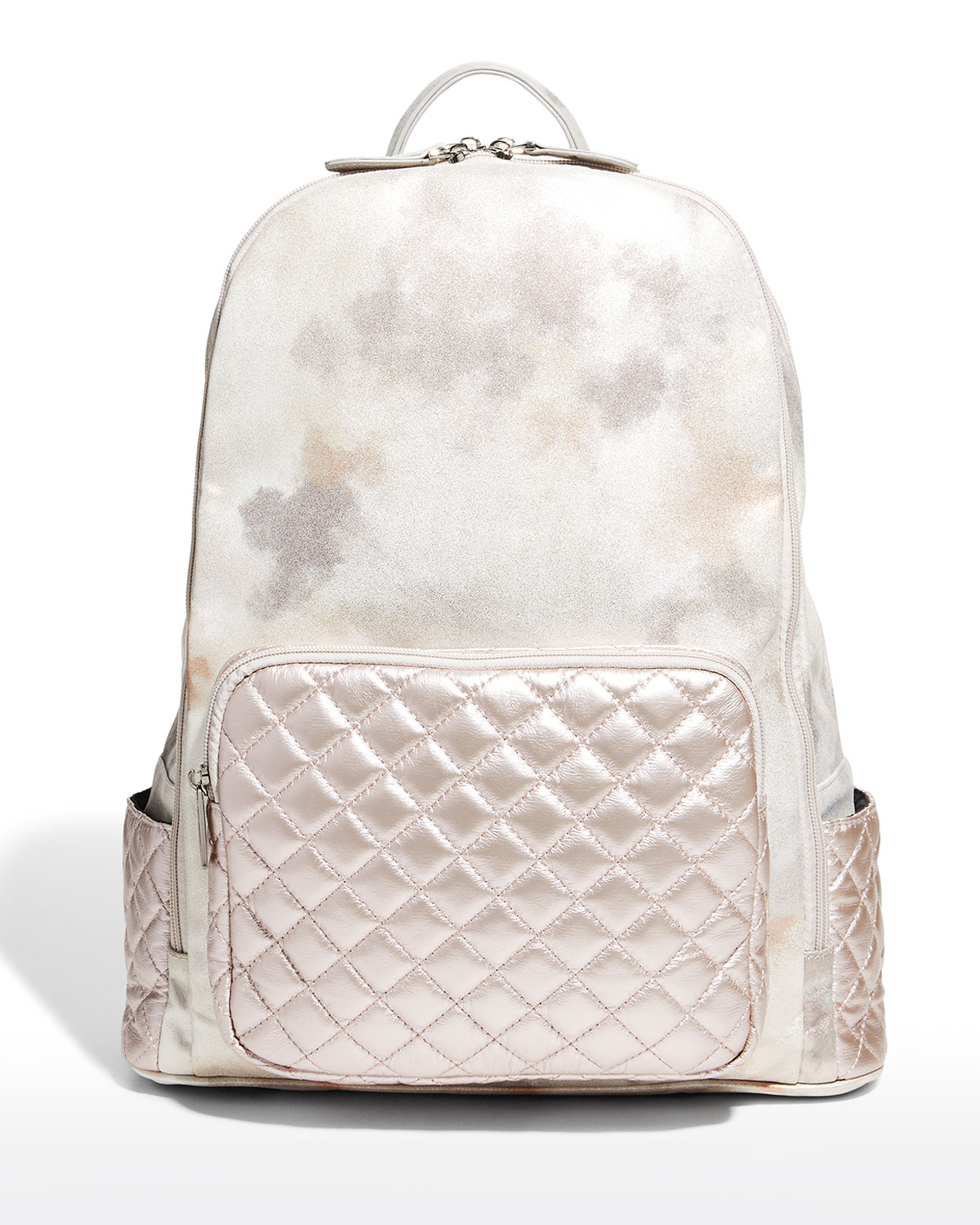 Girl's Marble-Print Quilted Backpack