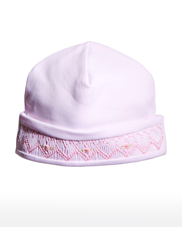 Girl's Smocked CLB Bishop Baby Hat