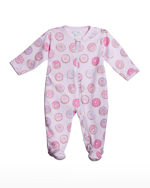 Girl's Donuts Zip-Up Footie Pajamas