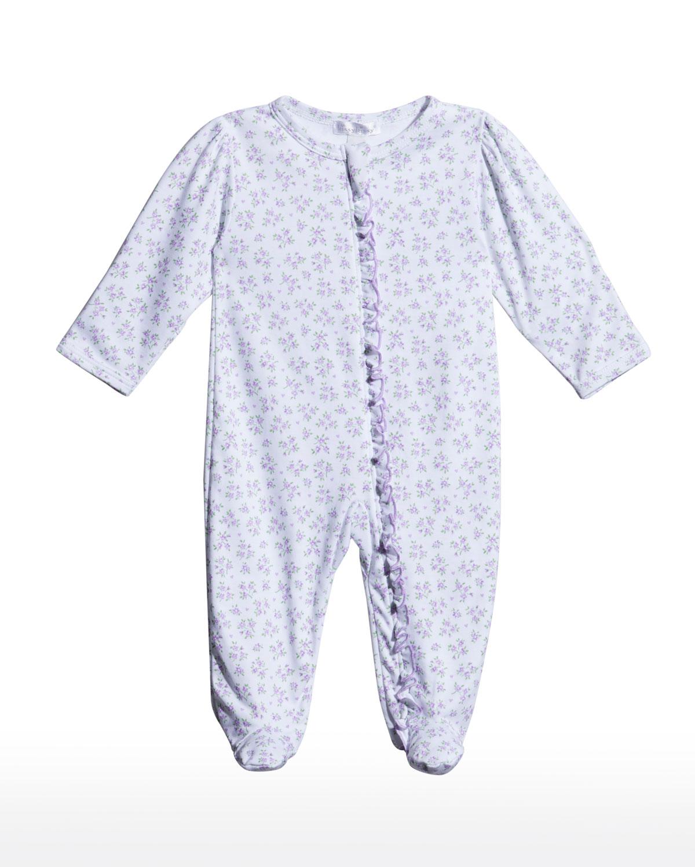 Girl's Petite Paradise Lilac Footie Pajamas