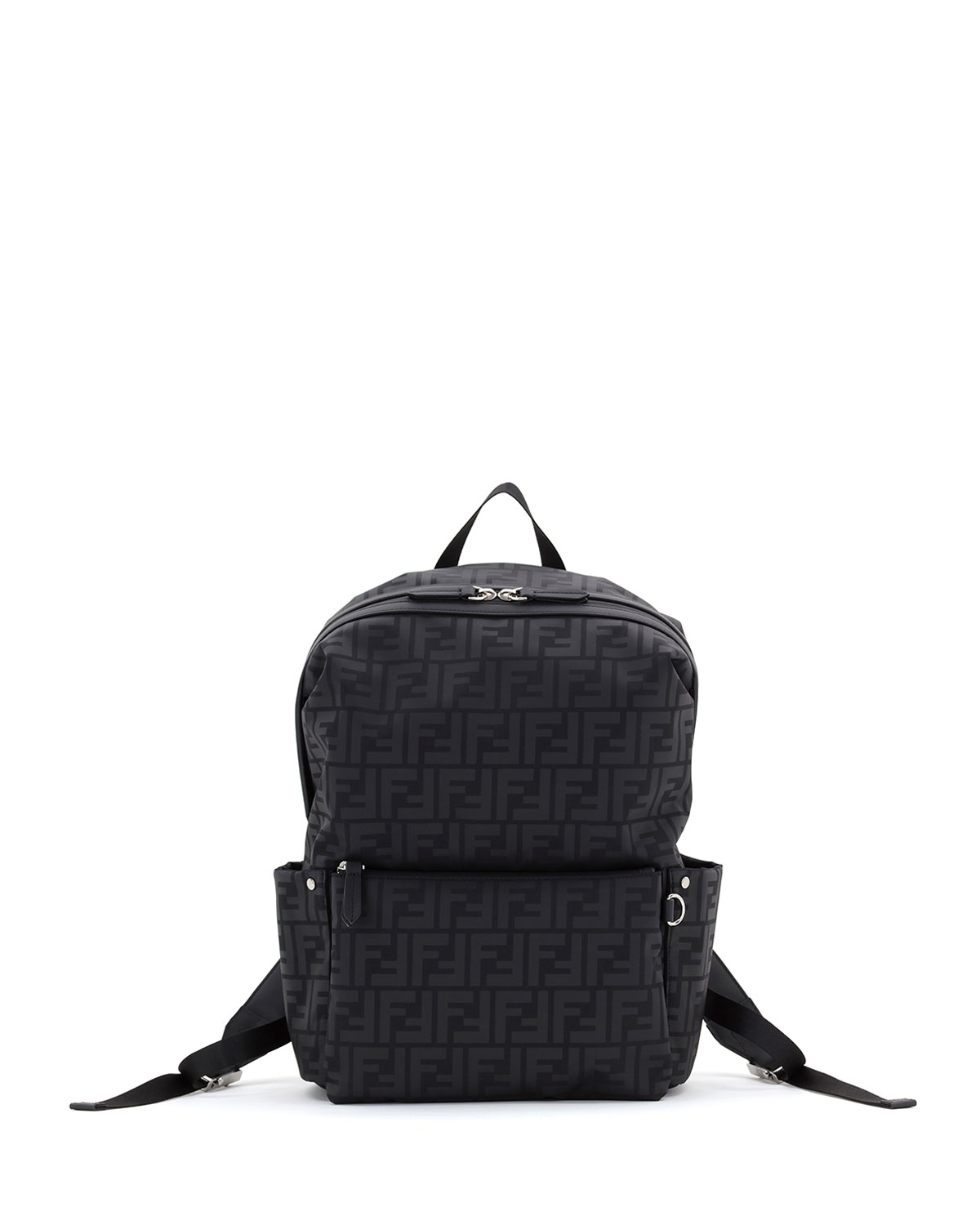Kid's FF Logo Leather Backpack
