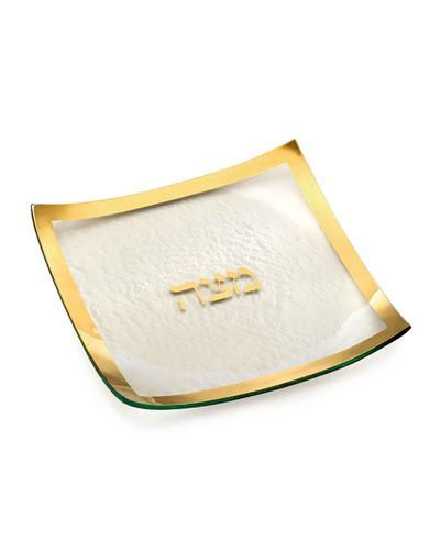 Judaica Square Matza Plate