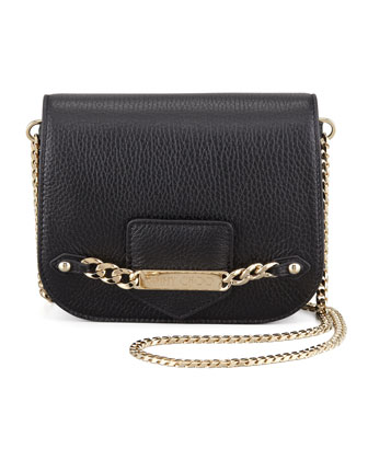 Shadow Metallic Crossbody Bag, Black