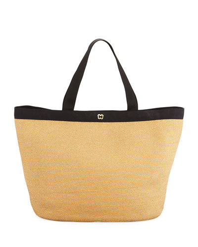 Dunemere Tote Bag, Natural/Black