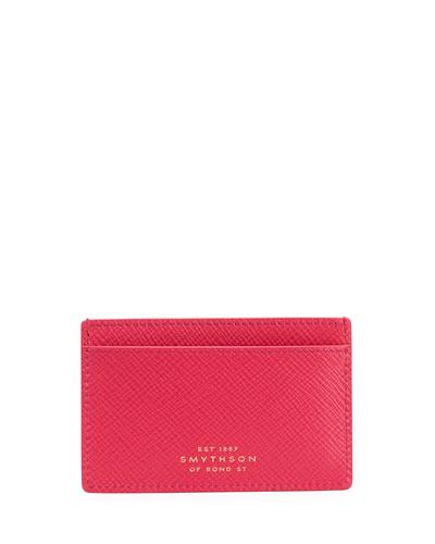 Panama 771 Leather Card Case, Fuchsia