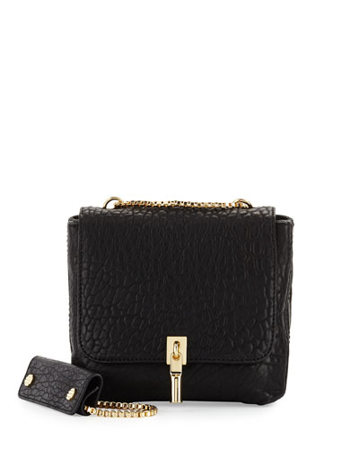 Cynnie Mini Double Messenger Bag, Black