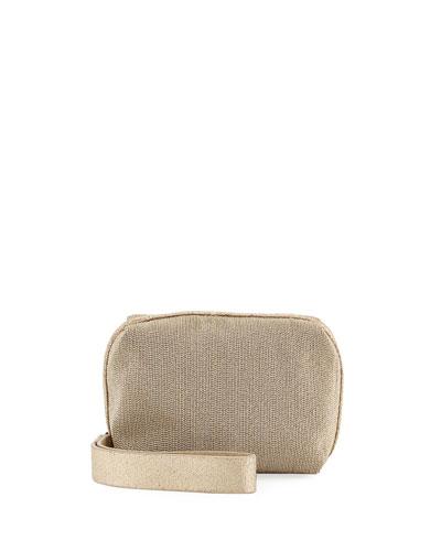 Monili Beaded Box Wristlet Bag, Gold
