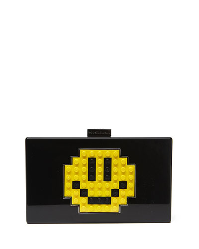 Grace Smile Clutch Bag, Black