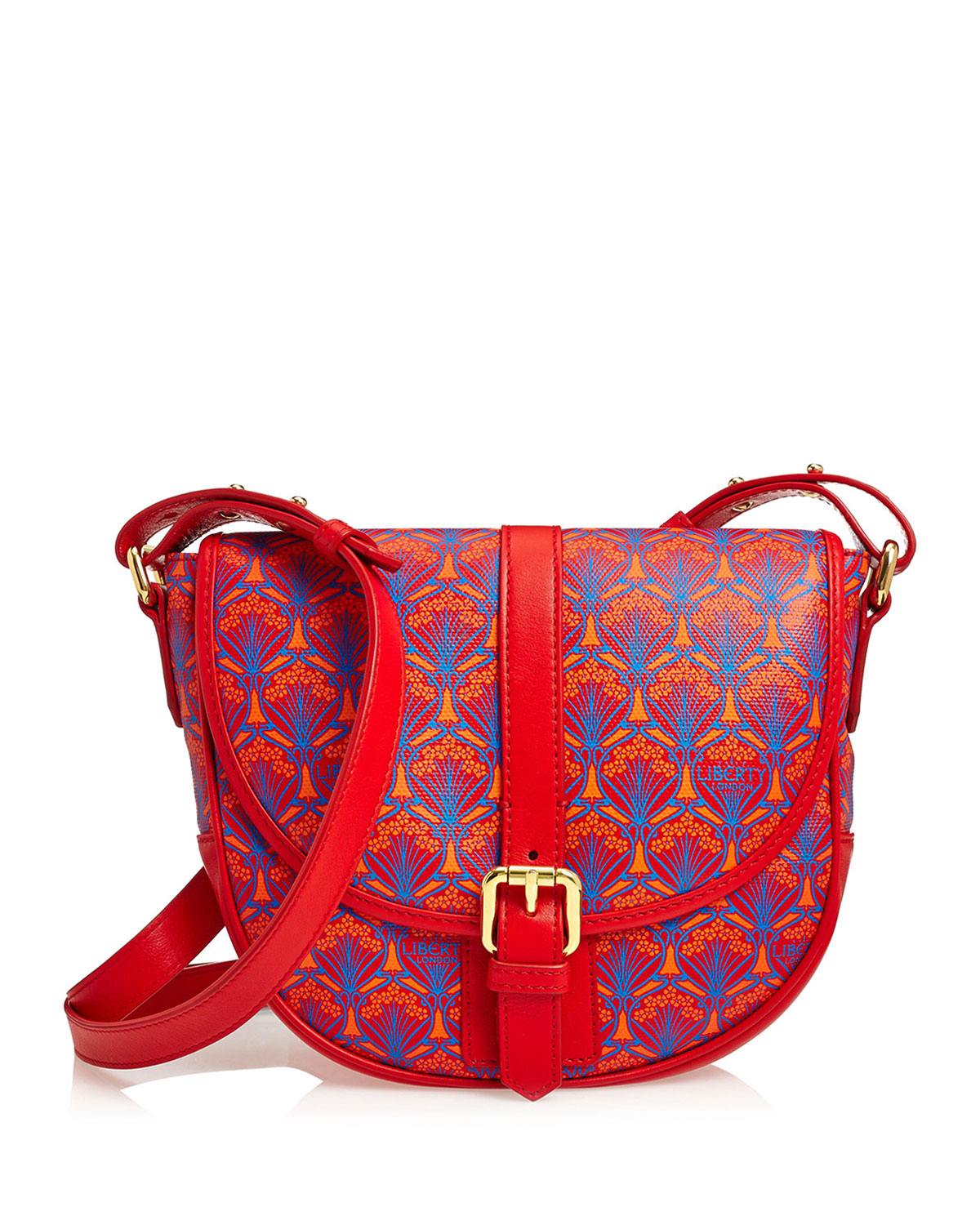 LIBERTY LONDON Carnaby Iphis Printed Crossbody Bag, Red in 80Red