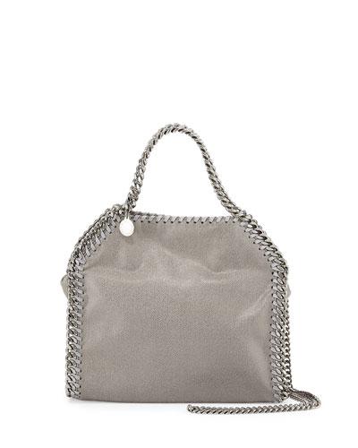 Mini Falabella Crossbody Bag, Gray