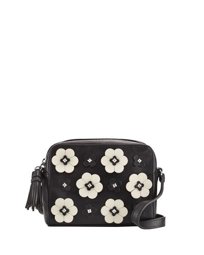 Floral Appliqué Camera Bag