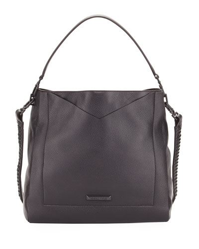 Carina Pebbled Leather Hobo Bag