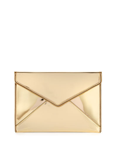 Leo Metallic Envelope Clutch Bag