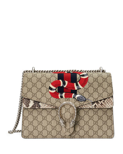 Dionysus Snake-Embroidered Crossbody Bag, Multi