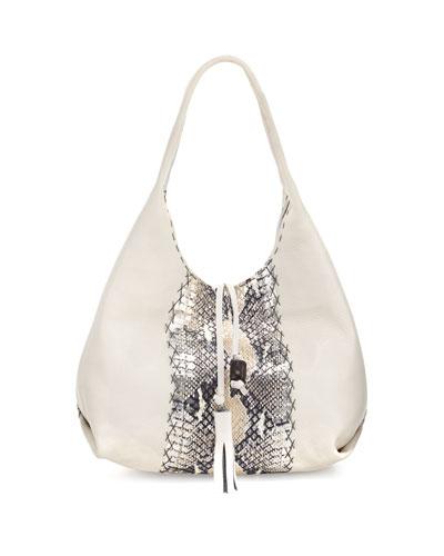 Sirena Cervo & Snakeskin Hobo Bag, Multi