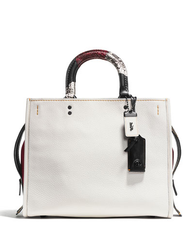 Rogue Patchwork-Handle Tote Bag