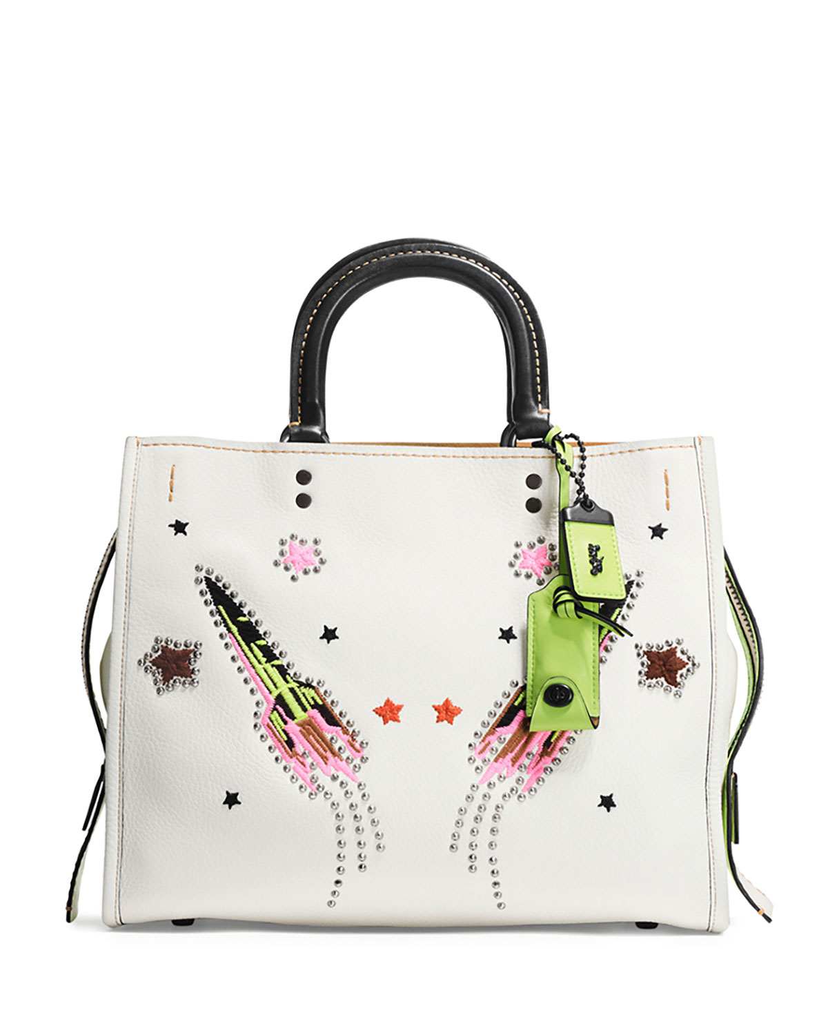 Rogue Rocket Leather Tote Bag, White