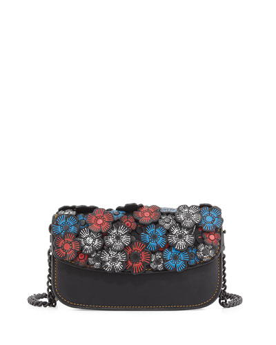 Chain Tea Rose Clutch Bag