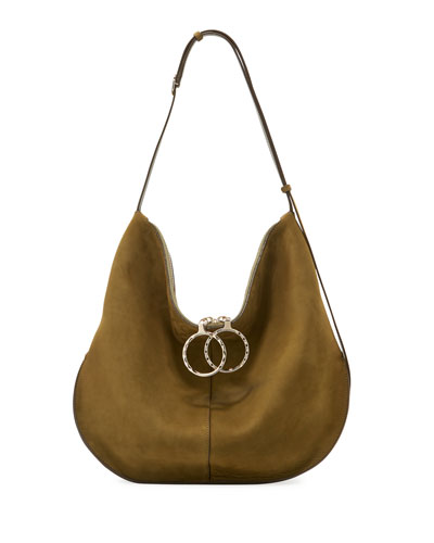 Kuti Large Nubuck Hobo Bag