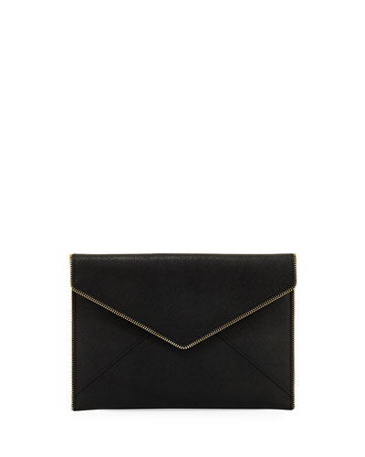 Leo Saffiano Clutch Bag