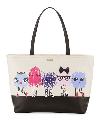 imagination francis monster tote bag, multicolor