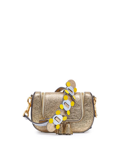 Vere Mini Geometric Satchel Bag, Gold