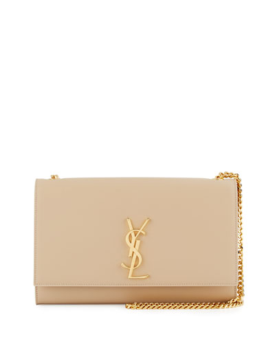 Kate Monogram Medium Crossbody Bag, Beige