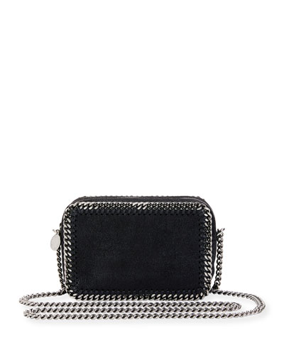 Falabella Whipstitch Camera Crossbody Bag, Black